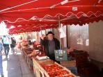 Our local market at Piegut is the biggest in the northern Dordogne
