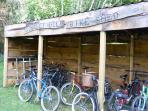 Our bike shed has a good range of quality family bikes