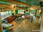 Game Room with Pool Table and Foosball at Waters Edge Lodge