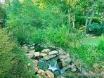 View of Creek at Waters Edge Lodge