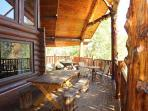 Outside Main Level Deck at Waters Edge Lodge