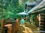 View of Main Level Deck at Waters Edge Lodge