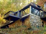 Cottage with 3 decks.