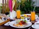 The Awan Villas daily breakfast
