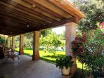 Spacious Terrace overlooking the Garden and Pool