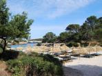 Nearest beach 'Cala Sanau'