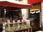 the open-air market: 800m away