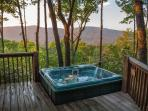 Breathtaking view of the North Georgia Mountains, even from the hot tub
