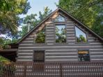 This completely remodeled cabin even has a sauna upstairs