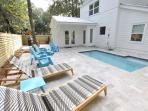 Pool Loungers Offer Relaxation
