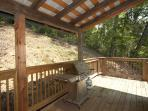 Covered Deck with Grill at Mountain Lake Escape