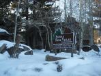 Sierra Park Villas Entrance in the Winter