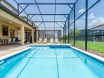 your PRIVATE south facing swimming pool and Jacuzzi just outside your Living Room