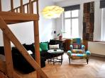 In the two-bedrooms flat with well equipped kitchen and bathroom you will feel like at home.