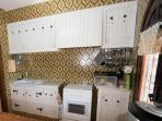 Well equipped authentic Spanish kitchen with gas cooker and oven