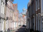 Street near apartment