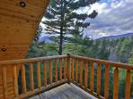 upstairs bedroom balcony view of Whiteface Mt, right outside the bedroom