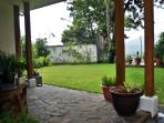 View of yard from back patio