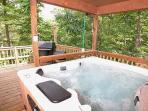 Covered Hot Tub at Mountain Majesty