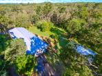 House is nestled on 4 acres of bush