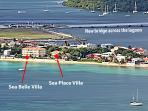 Aerial view of La Siesta Residence ~ Sea Belle is a ground floor unit in the larger 4 story villa