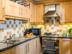 Kitchen is well equipped for self catering