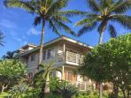 Corner unit on ground level overlooking lush tropical foliage