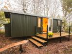 Fabulous bespoke Shepherd's Hut available for 2 at the same property tucked away in the woodland.