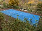 Complimentary use of our tennis court, rackets &balls - the court is set within the hillside...