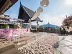 The villa has become very popular for  weddings and all kind of celebrations