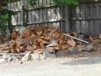 The wood pile for your cosy combustion wood heater