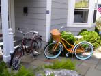 Male and Female beach cruisers/locks provided for exploring our wonderful neighborhood!