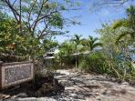 Private drive leads to tropical getaway