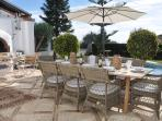 Terrace with gas barbecue and can accommodate 12 persons to dine 'al fresco'