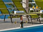 The sun deck at the pool area
