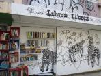 Libros Libres - 'Free Books', a great community project,  basically an open air self-service library