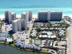 Aerial View of Shoreline Towers in Destin, FL