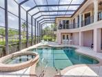 3/31: Large Heated Pool with spillover Spa