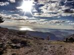 Mountain Mosor where you can hike and explore always with fantastic Split views