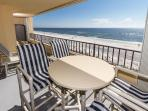 This is a very spacious beach front balcony with a magnificent v