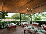 Bed and Breakfast 'IL Casolare di Libbiano' - Terrazza da pranzo