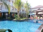 Pool Side and Abian Harmony Hotel Garden