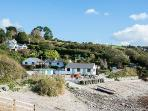 Talland beach and Talland beach cafe is the perfect place for a swim, lunch and rock-pooling