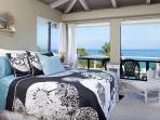 Another bedroom with ocean view.