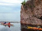 If you prefer to see the shore from the water, kayaking is one option.