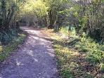 Cycle walking path to Llanelli - ex railway line 5 minutes from house