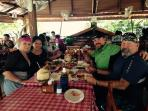 Kuhn Pha Seafoord restaurant by the market in Rawai where you can buy fresh seafood and cook it!