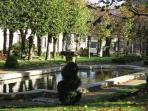 The peaceful park at Guerlesquin