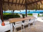 Open air dining/lunch table with 180 ocean front views.
