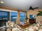 Sit down ocean views from the sofa, see whales, dolphins, tropical fish, turtles, and surfers!